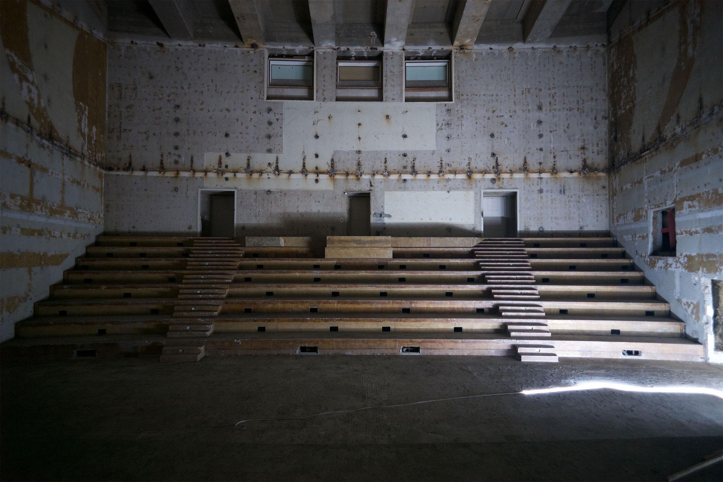 Studio 105 durant les travaux de réhabilitation / C. Abramowitz. Photothèque de Radio France