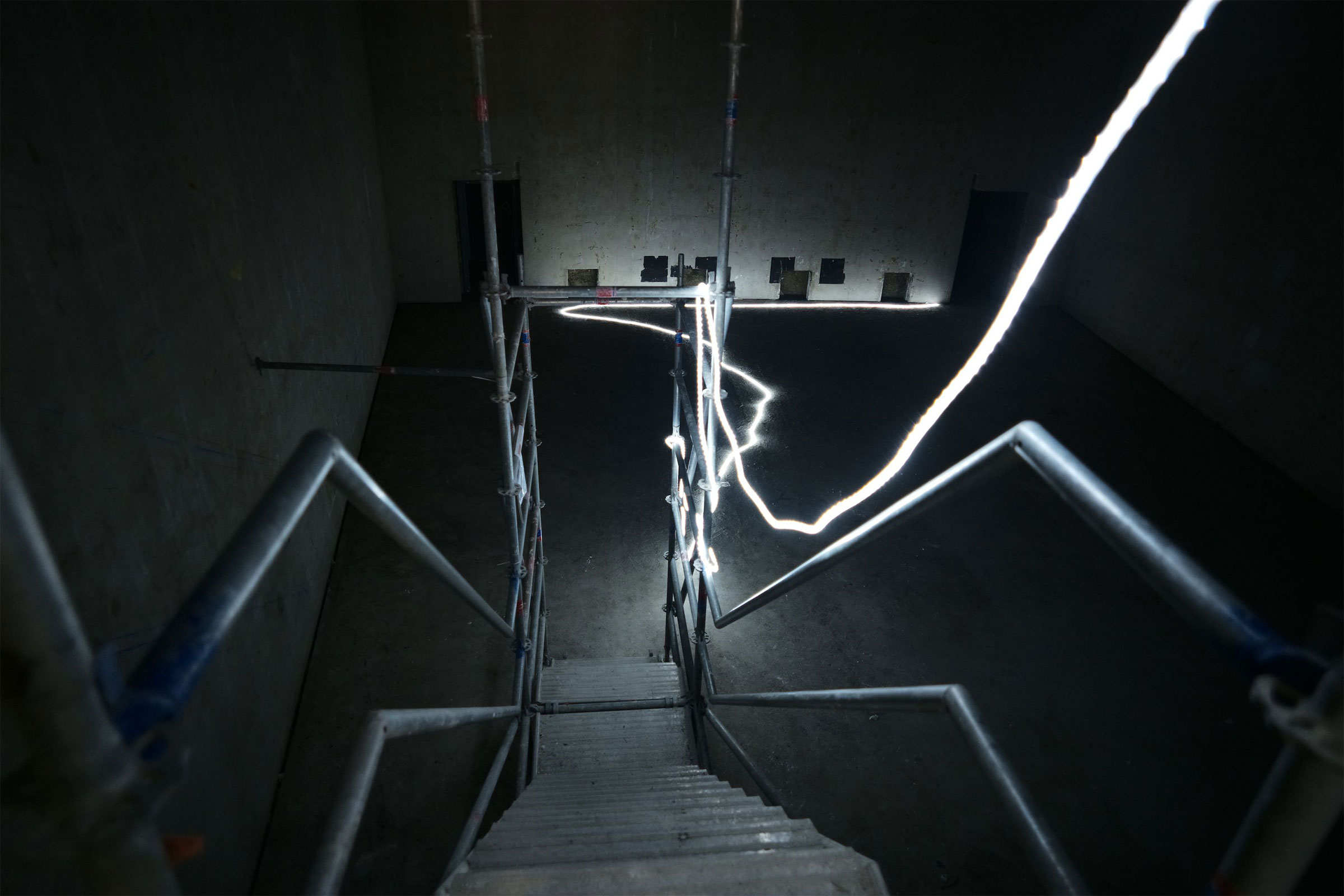 Studio 107 durant les travaux de réhabilitation / C. Abramowitz. Photothèque de Radio France