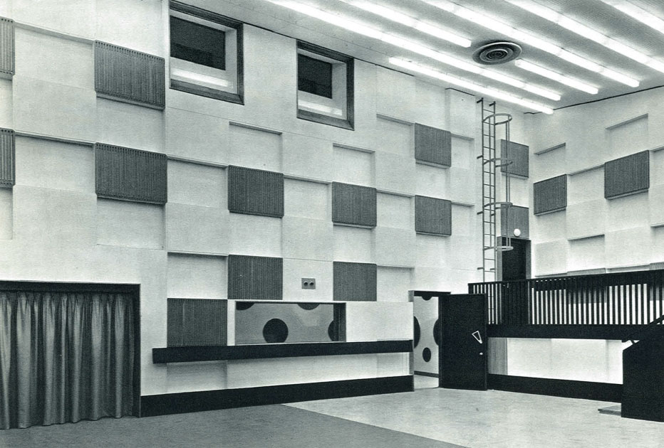 Studio 114 en 1963 / Archives écrites de Radio France