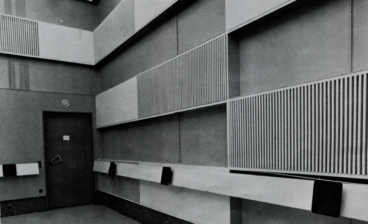 Studio 115 en 1963 / Archives écrites de Radio France